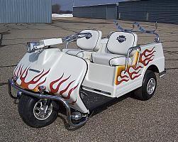 Harley Davidson Columbia Par Car Vintage Golf Cart
