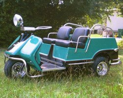 Harley Davidson Columbia Par Car Vintage Golf Cart