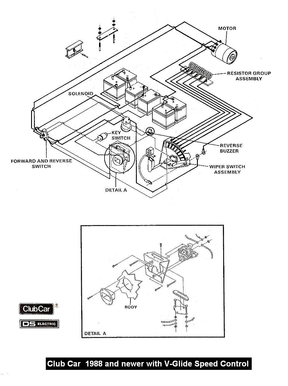 CC_88_newer_Wiper_wiring vintagegolfcartparts com club car battery wiring diagram at edmiracle.co