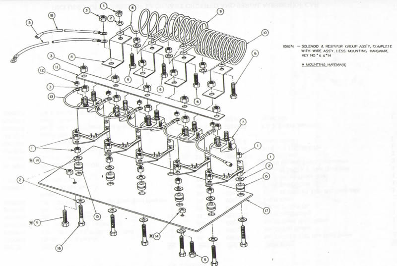 Solenoid Wiring Diagram for 1981 to 1983-1/2 Club Car