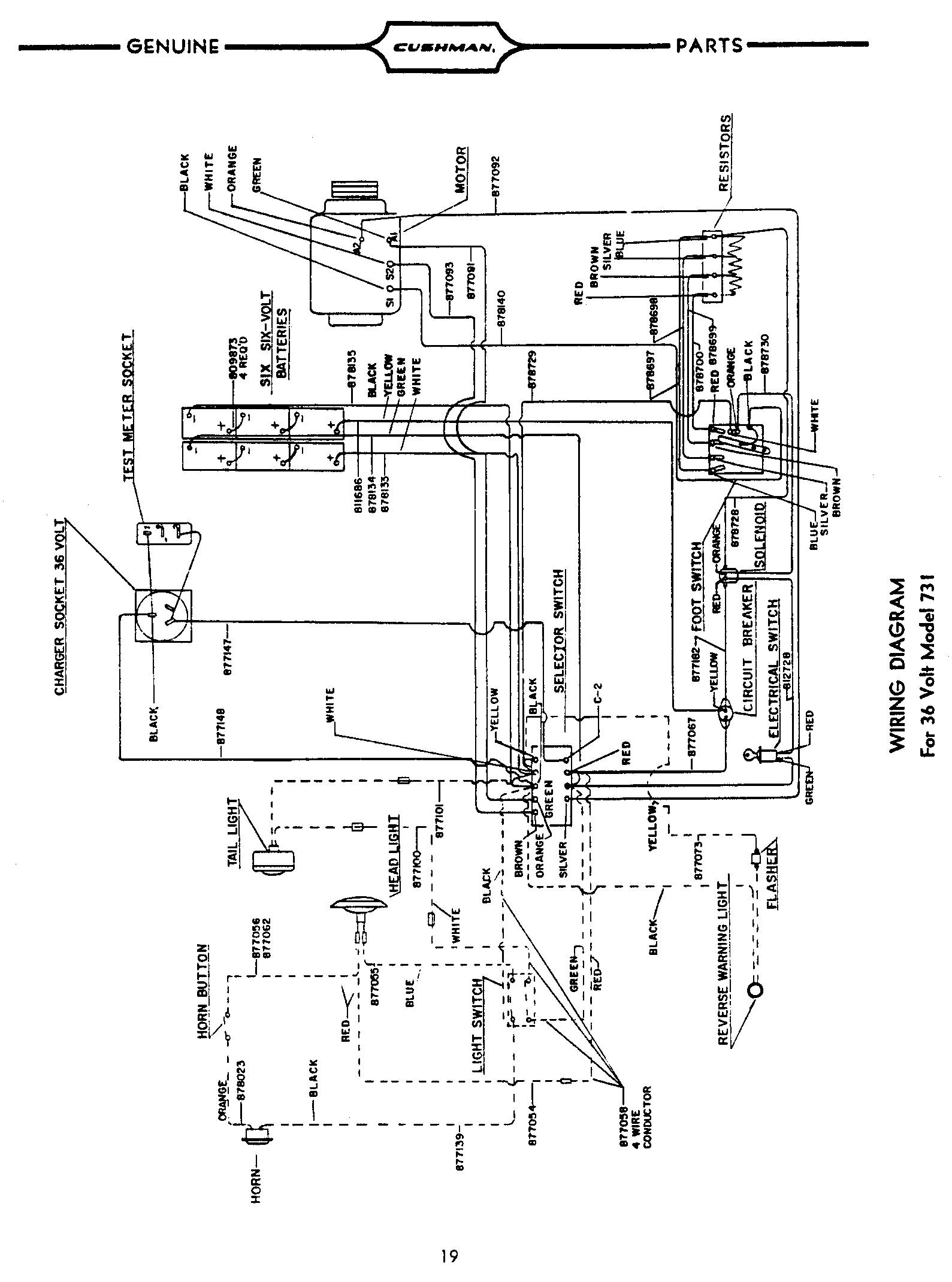PU300Page19 ezgo golf cart wiring diagram wiring diagram for ez go 36volt battery wiring diagram for 36 volt golf cart at bayanpartner.co