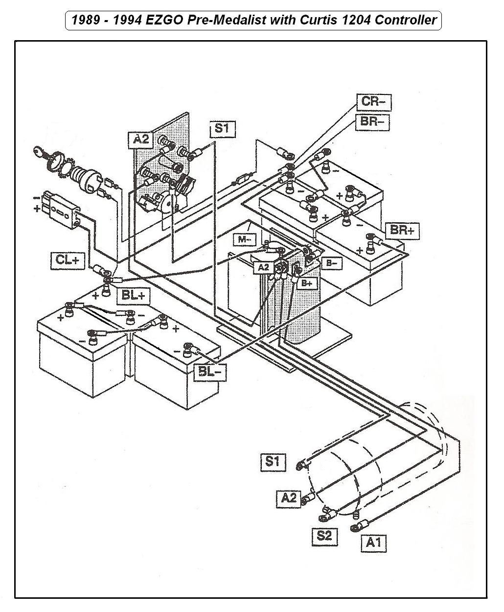 A89_94EZ_Wiring 1989 ez go wiring diagram 1989 eldorado wiring diagram \u2022 wiring ez go electric golf cart wiring diagram at aneh.co