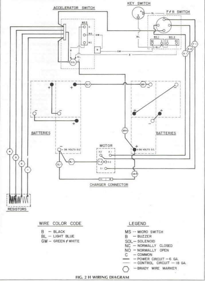 Wiring Diagram For 2001 Ez Go Golf Cart : Wiring for ezgo wheel electric golf cart