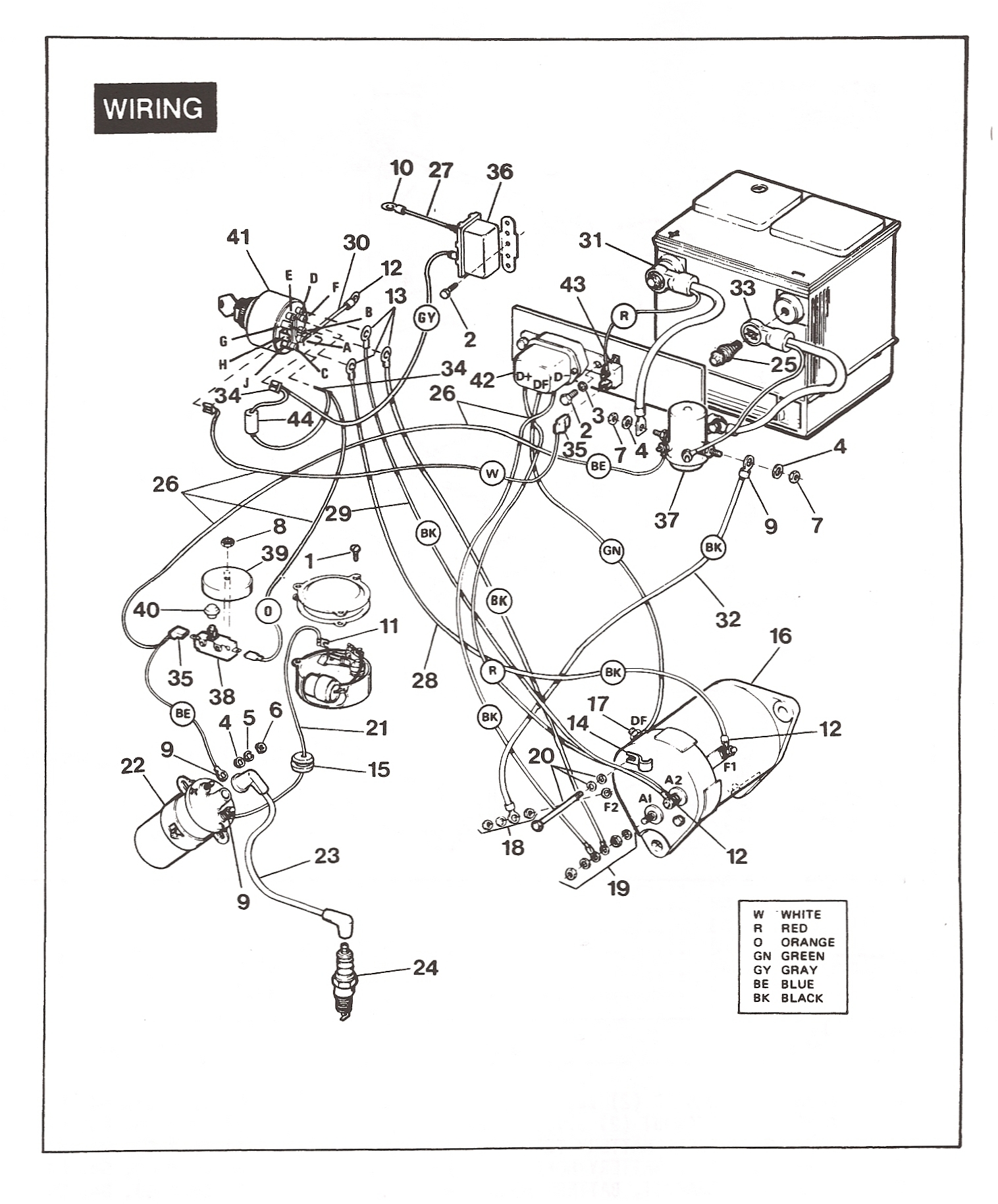 With A Golf Cart Gas Engine Ignition Wiring Diagram on