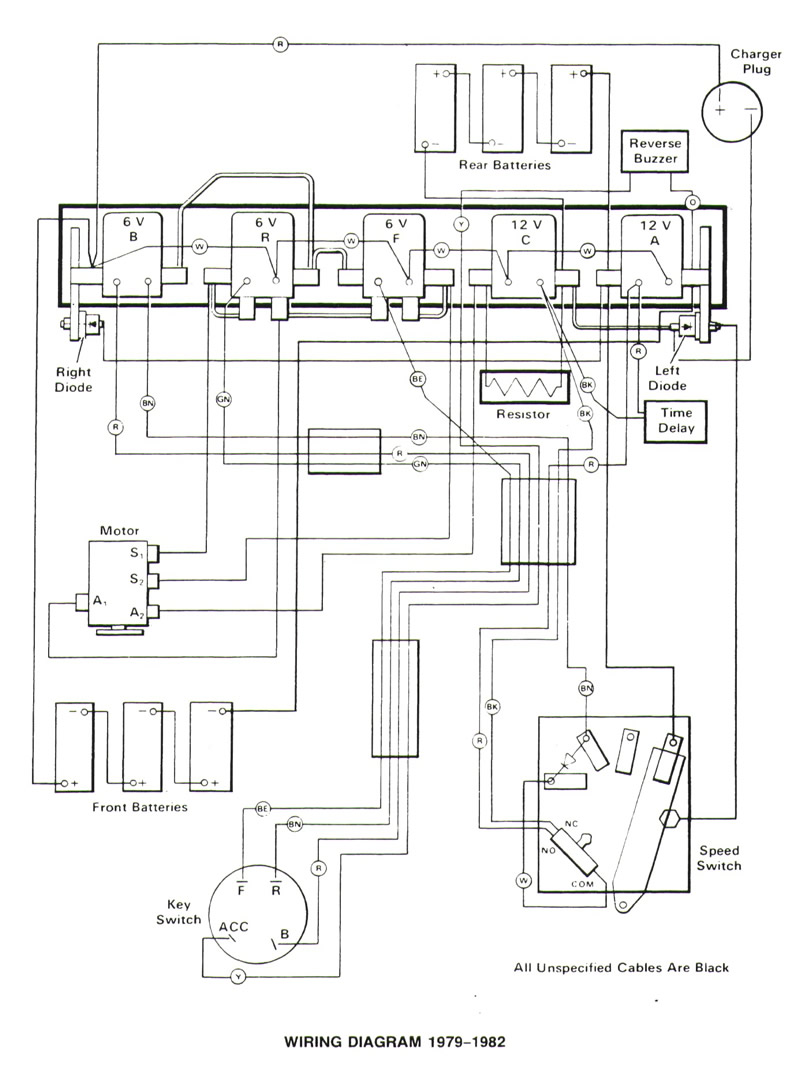 1982 club car golf cart battery wiring diagram