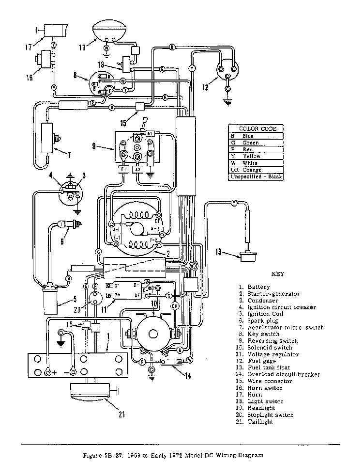 HG 6 vintagegolfcartparts com harley davidson gas golf cart wiring diagram at mifinder.co