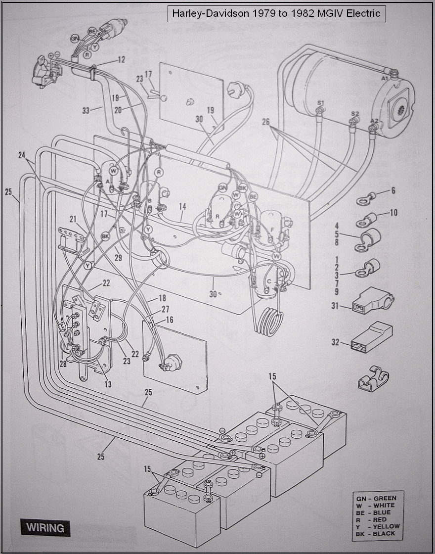 diagram_HD_79to82_MGIV 48 volt columbia par car with sevcon controller controller amf harley davidson golf cart wiring diagram at virtualis.co