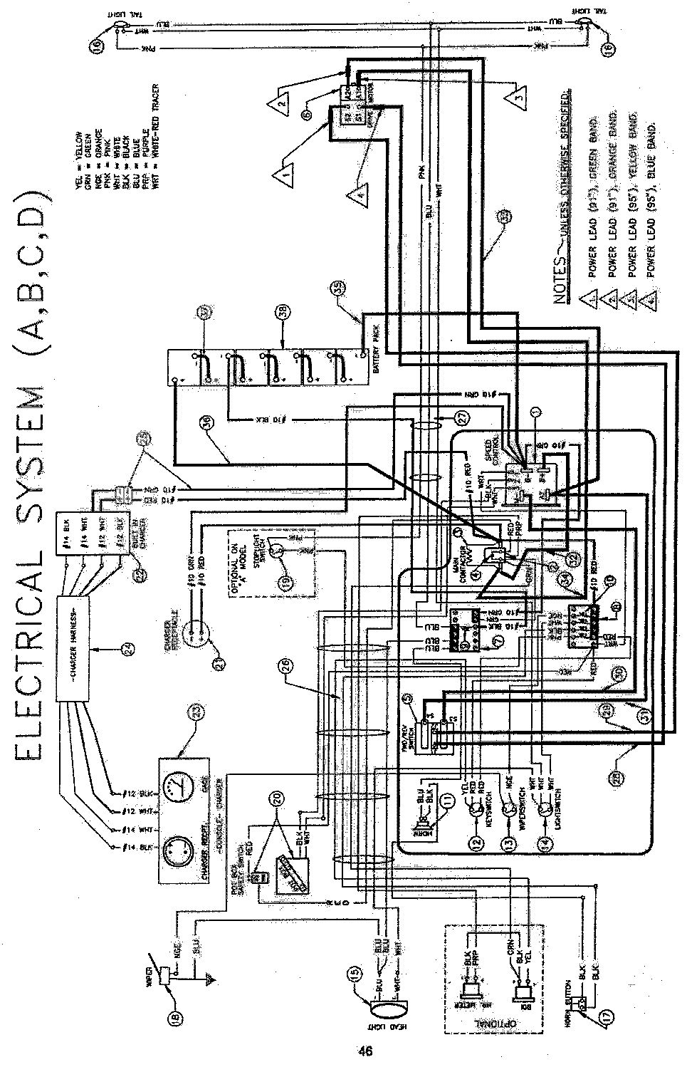 2001 ez go wiring diagram 36 volt 2001 discover your wiring 1992 club car wiring diagram