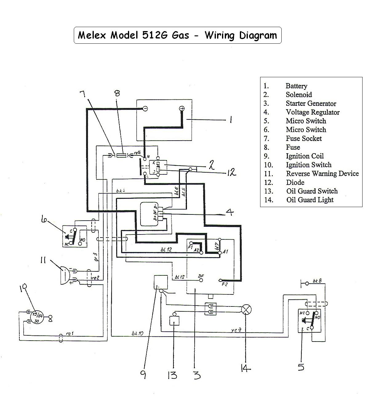 Melex512G_wiring_diagram vintagegolfcartparts com 3-Way Switch Wiring Diagram for Switch To at gsmportal.co