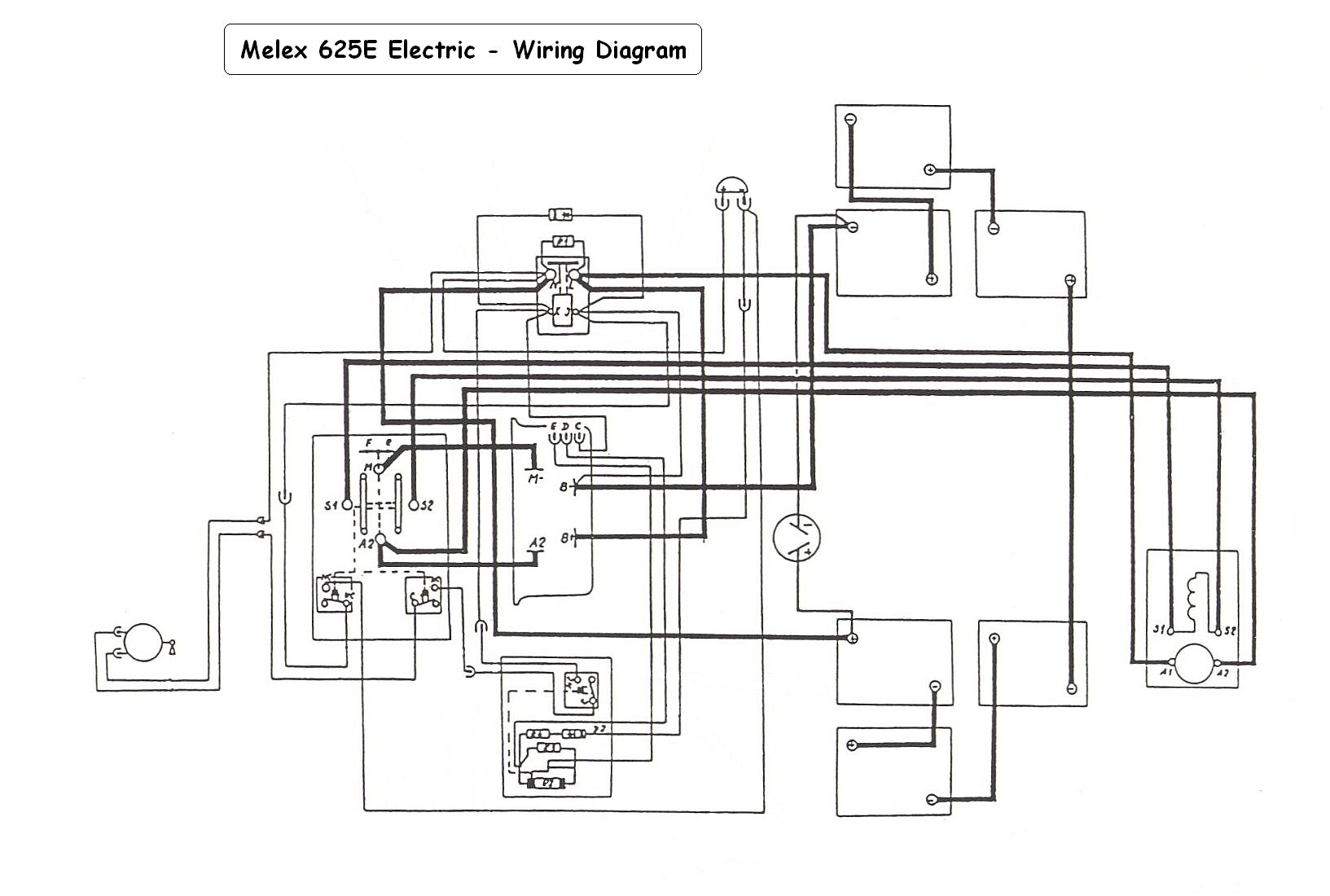 vintagegolfcartparts com melex model 625e electric wiring diagram