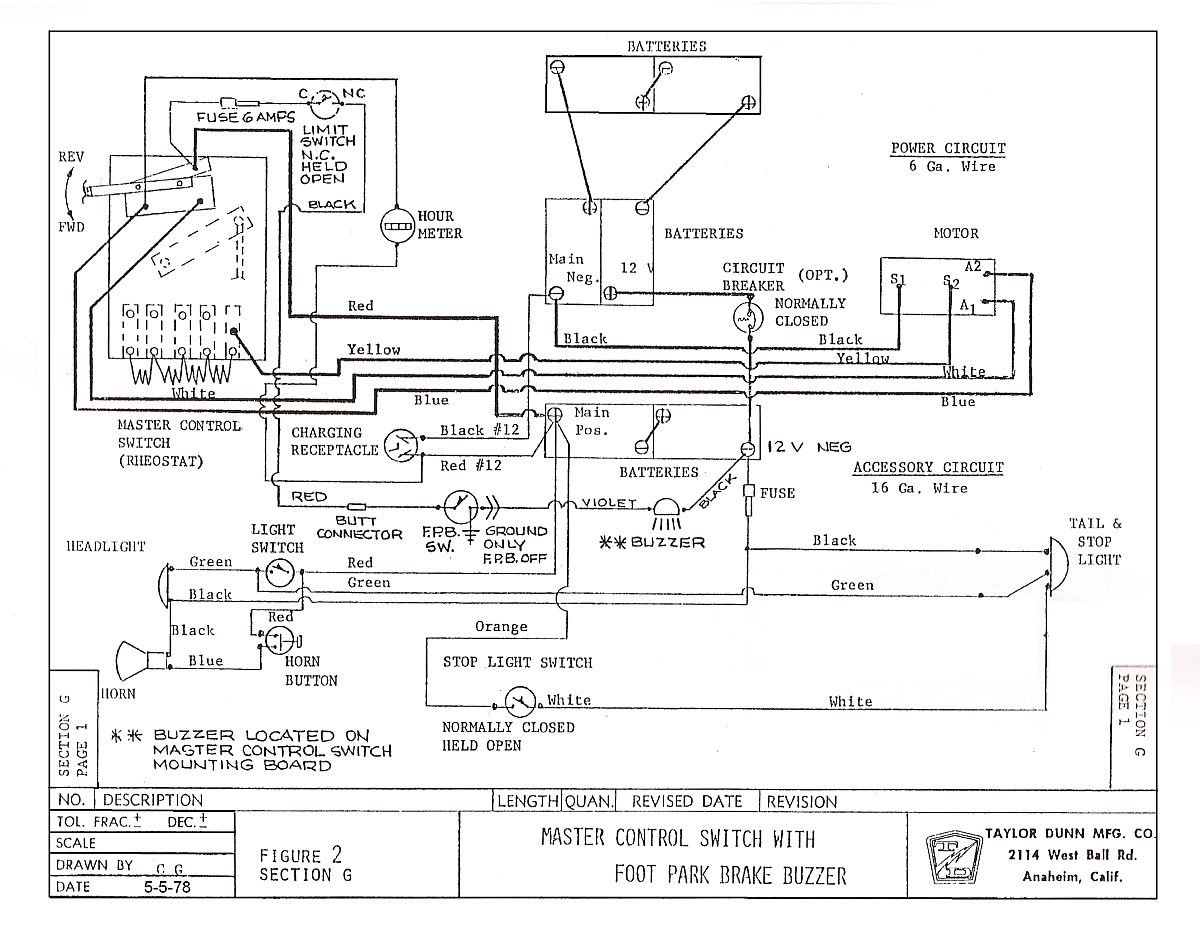 taylor dunn wiring diagram ignition r380 taylor dunn wiring diagram