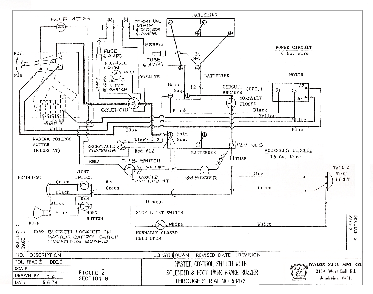 taylor dunn wiring diagram pdf taylor dunn wiring diagram ignition vintagegolfcartparts.com #11