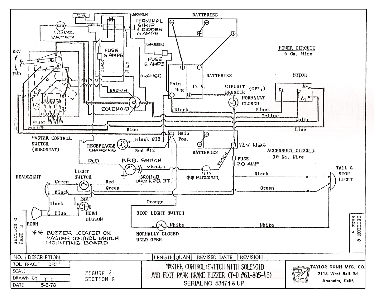 taylor dunn wiring diagram 3000gt vintagegolfcartparts.com taylor dunn wiring diagram ignition