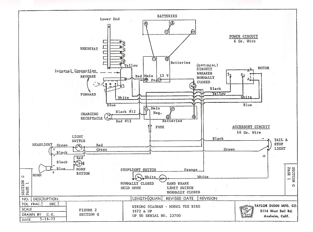 Td Gt To on Cushman Electric Golf Cart Wiring Diagram