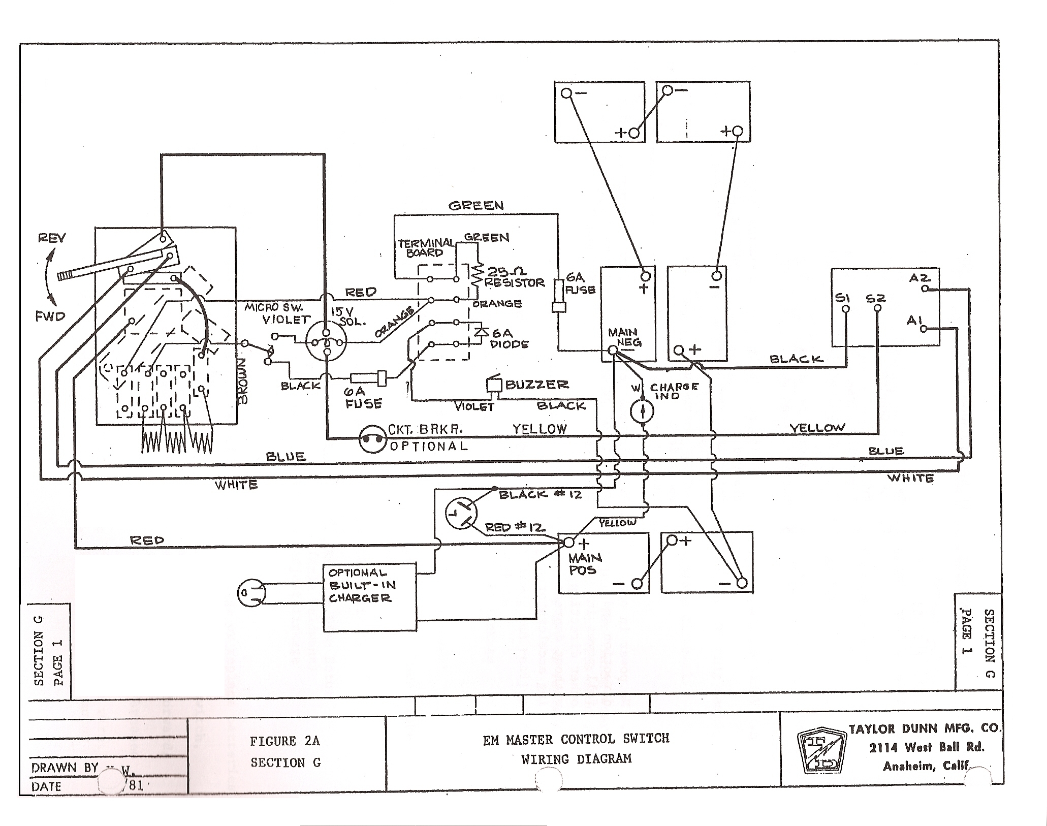 Taylor Dunn Wiring Diagram B2 48 | Wiring Diagram on