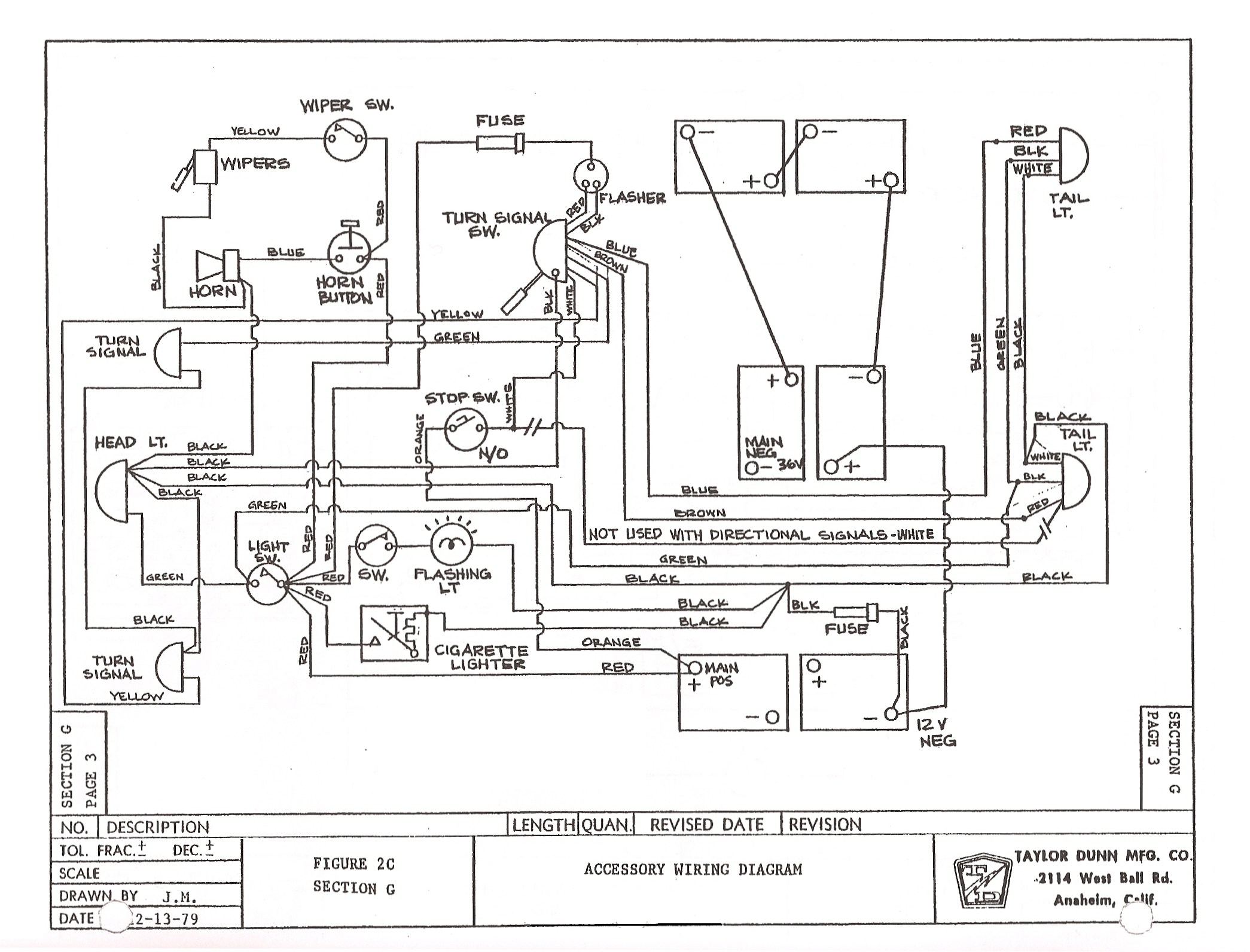 TD_GT370_71_81to85_003 vintagegolfcartparts com taylor dunn wiring diagram at fashall.co