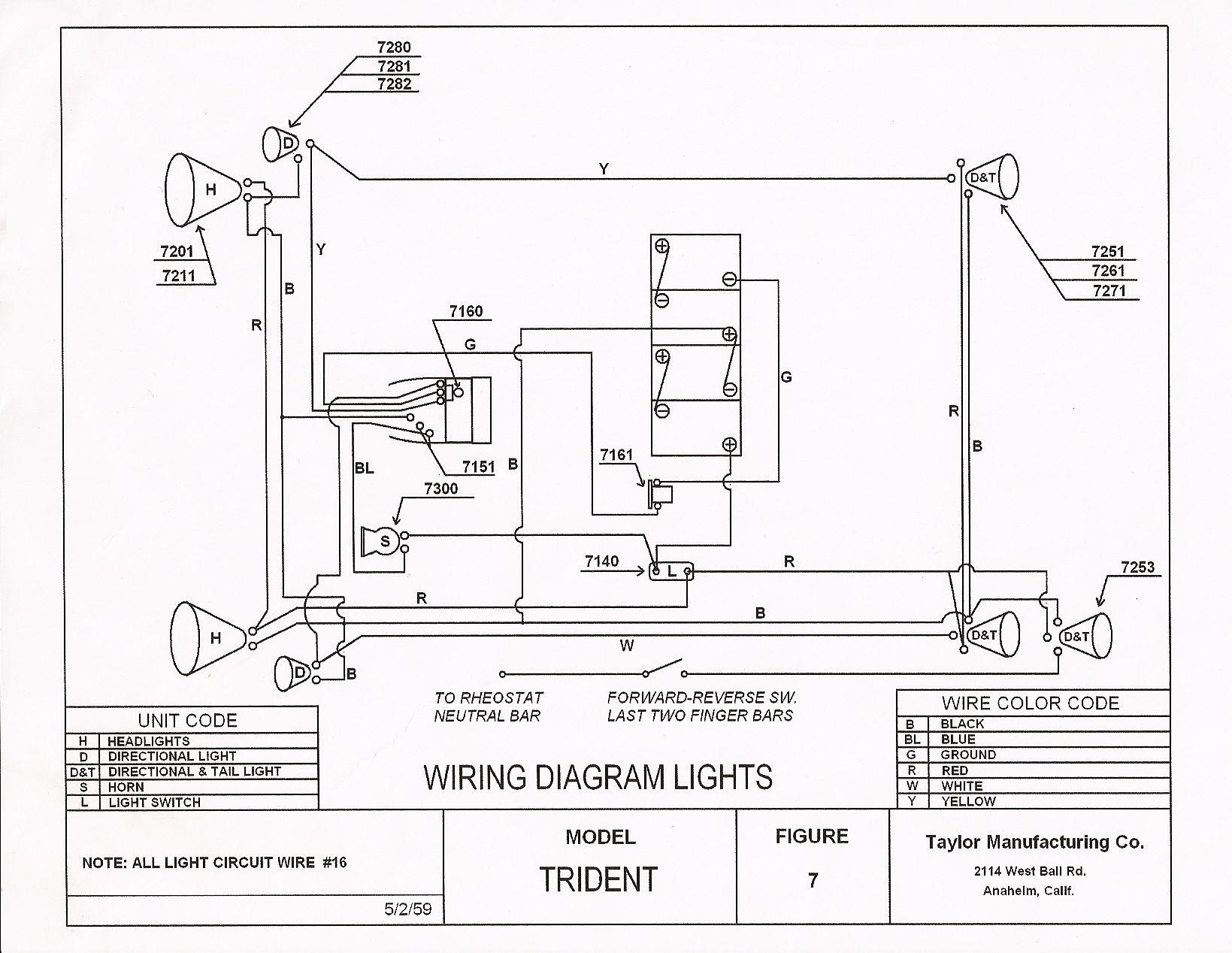 taylor dunn wiring diagram ignition vintagegolfcartparts.com
