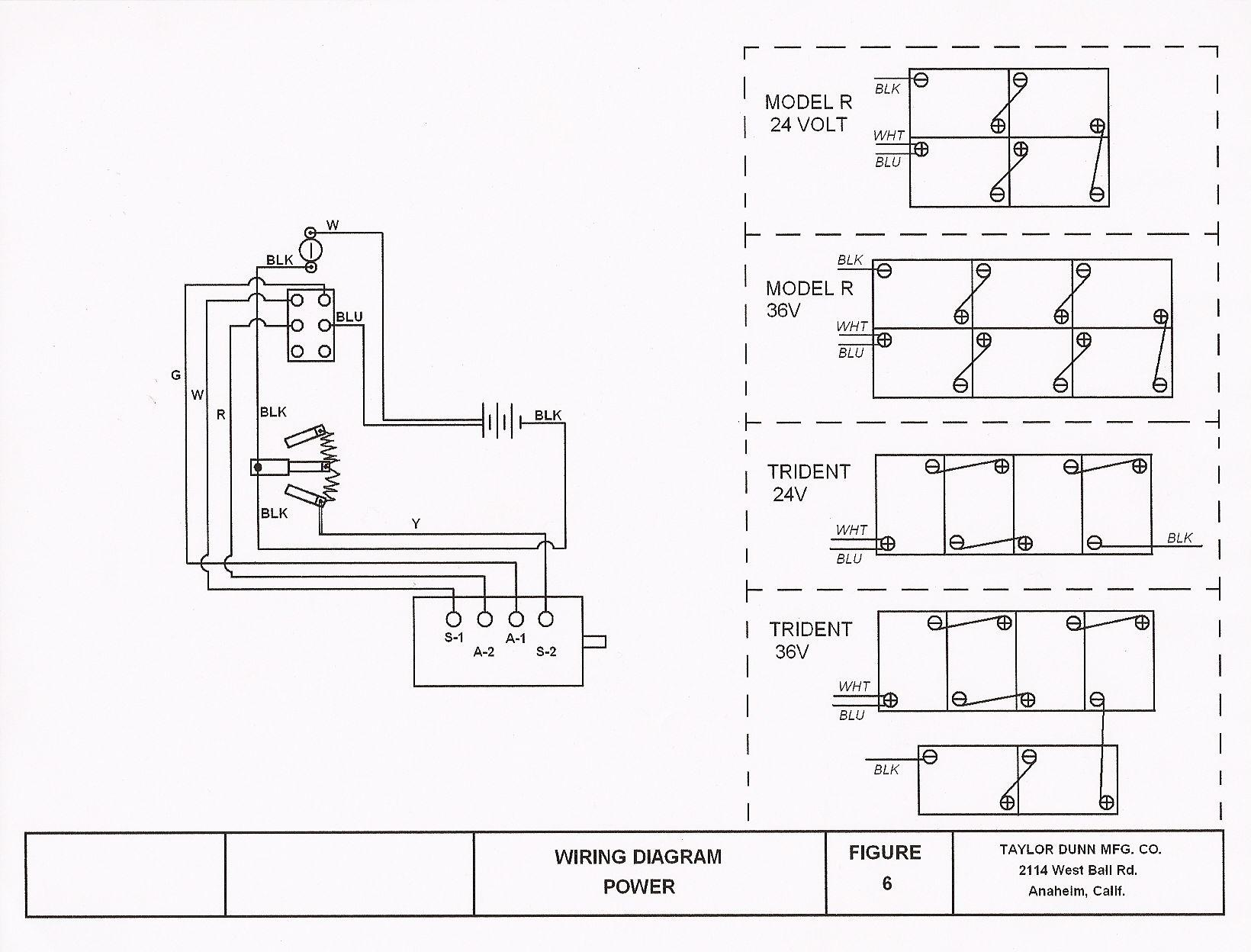 trident02 vintagegolfcartparts com wiring diagram for a 36 volt taylor dunn cart at n-0.co