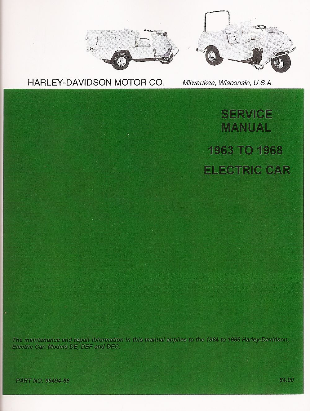 PU11-002 - Electric Service Manual, '63-'68