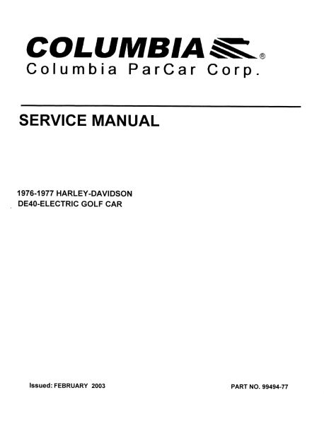 PU11-010 - Electric Service Manual, '76-'77