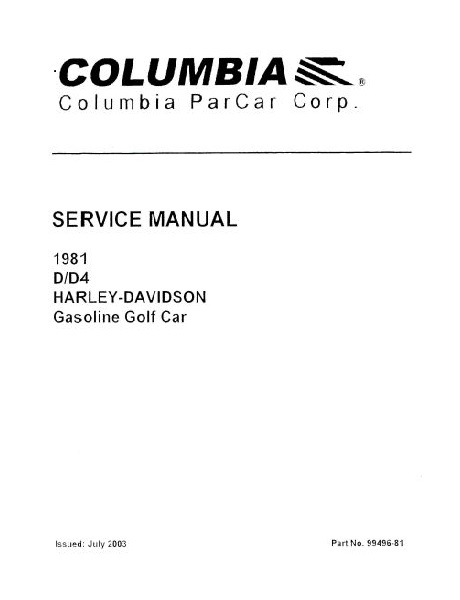PU11-060 - Gas Service Manual, '81