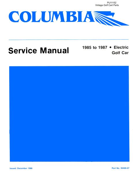 PU11-152 - Electric Service Manual, '85-'87
