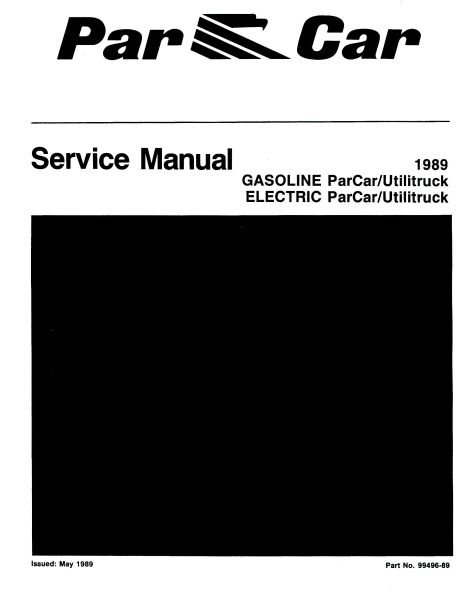 PU11-200 - Gas & Elec Service Manual, '87-'89