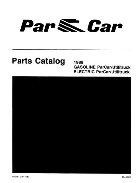 PU11-210 - Gas & Elec Parts Manual, '87-'89