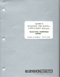 PU22-040 - Service Manual, Electric Sup, '84-'86, Spirit