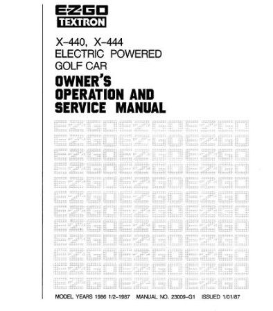 PU22-050 - Service Manual, Electric, '85-'87