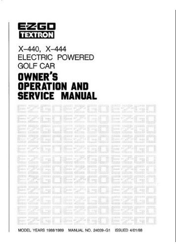PU22-090 - Service Manual, Electric, '88-'89