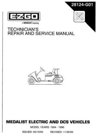 PU22-130 - Service Manual, Electric, '94-'96