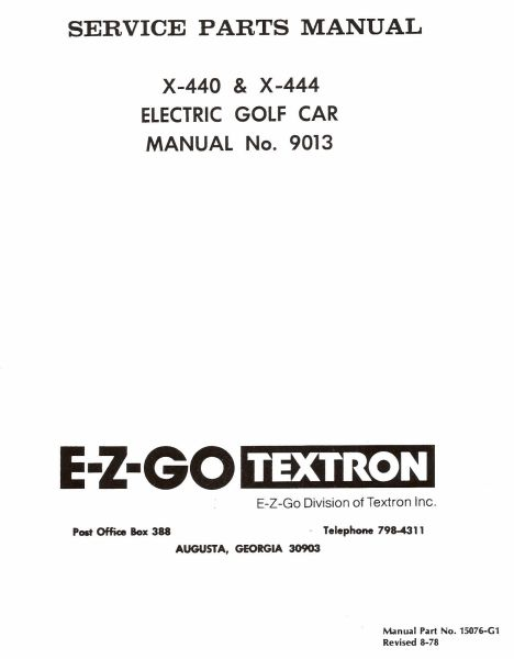 PU22-300 - Parts Manual, Electric, '71-'78
