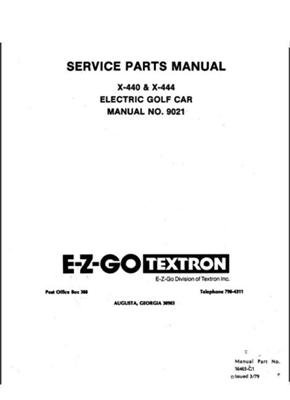 PU22-310 - Parts Manual, Electric, '79