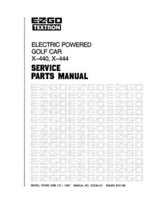 PU22-350 - Parts Manual, Electric, '87-'88