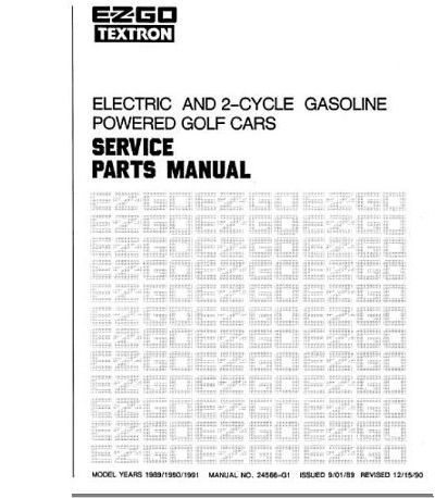 PU22-360 - Parts Manual, Gas & Electric, '89-'91