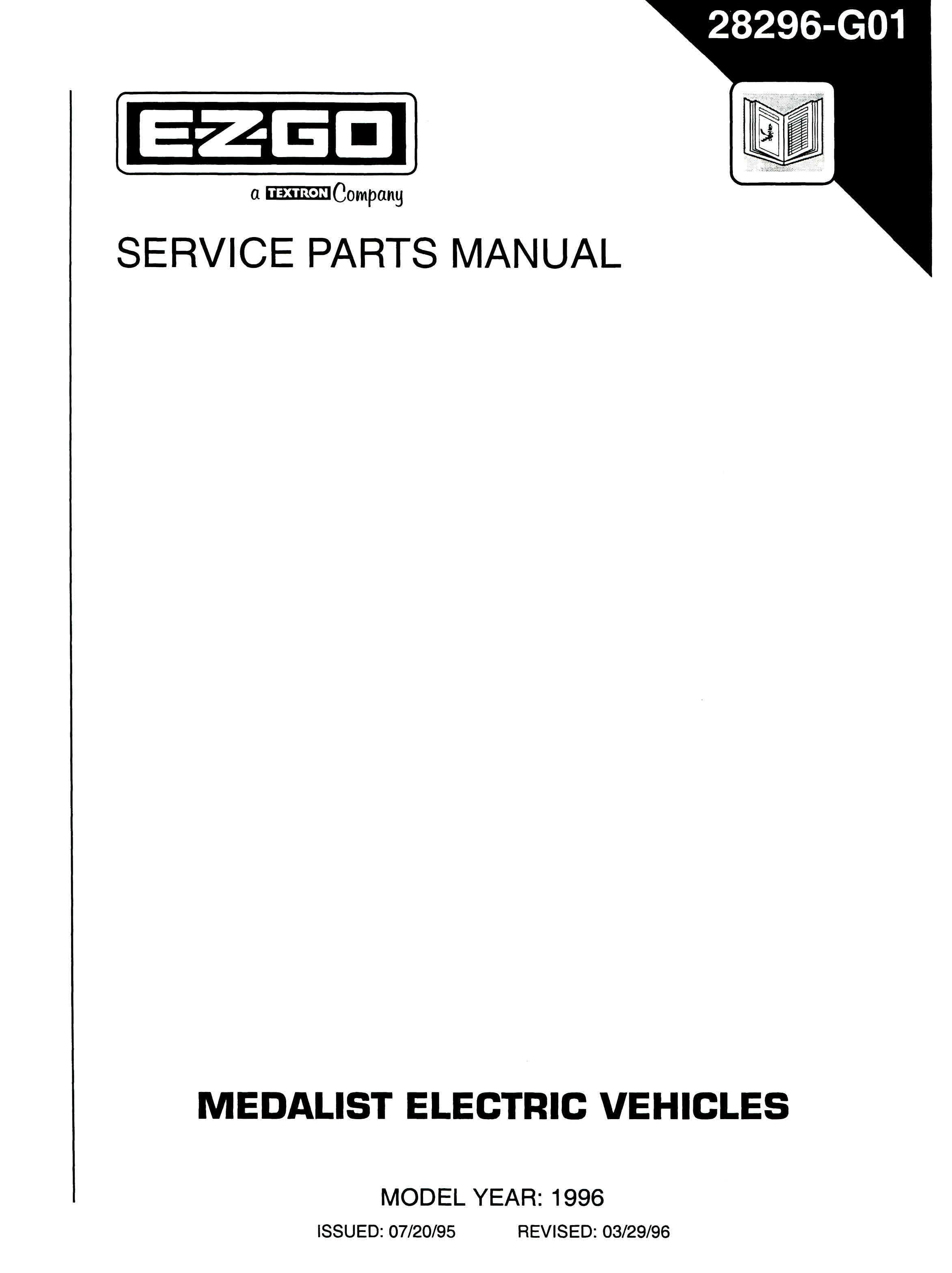 PU22-380 - Parts Manual, Electric, '94-'96