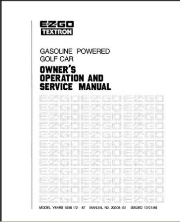 PU22-550 - Service Manual, Gas, '86-'87