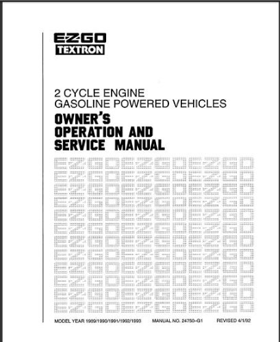 PU22-570 - Service Manual, Gas, '89-'93, 2-cycle