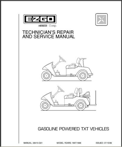PU22-600 - Service Manual, Gas, '96-'98 TXT
