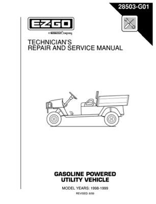 PU22-610 - Service Manual, Gas, '96-'99 ST350