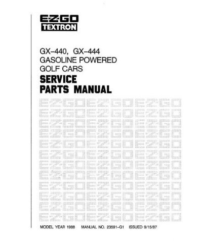 PU22-770 - Parts Manual, Gas, '88