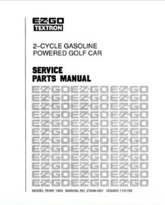 PU22-790 - Parts Manual, Gas, '89-'93, 2-cycle