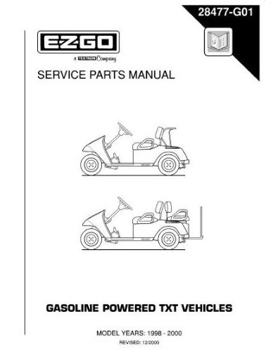 PU22-820 - Parts Manual, Gas, '96-'00 TXT