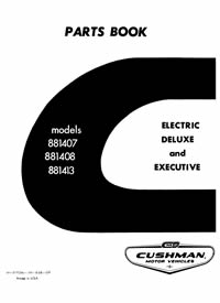 PU33-030 - Parts Manual, Electric, '67 731/732 Executive 36 Volt