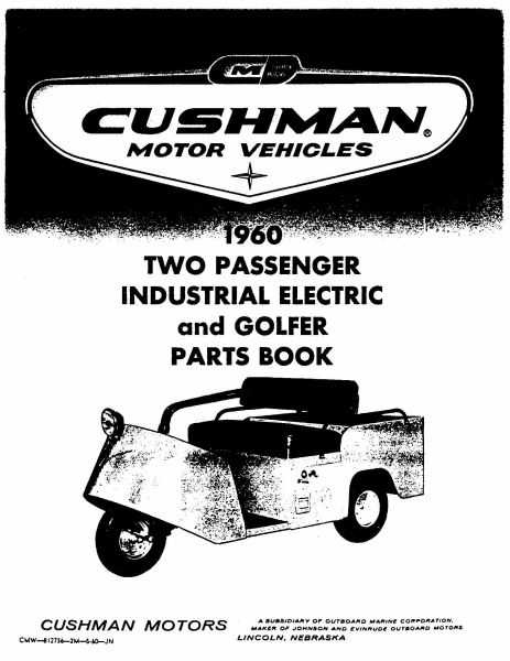 PU33-000 - Parts Manual, Electric, '60-'62