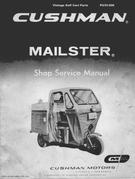 PU33-006 - Service Manual, Gas, '57-'59