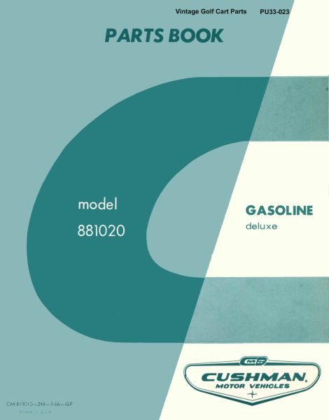 PU33-023 - Parts Manual, Gas, '66