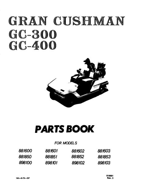 PU33-040 - Parts Manual, GC300/GC400