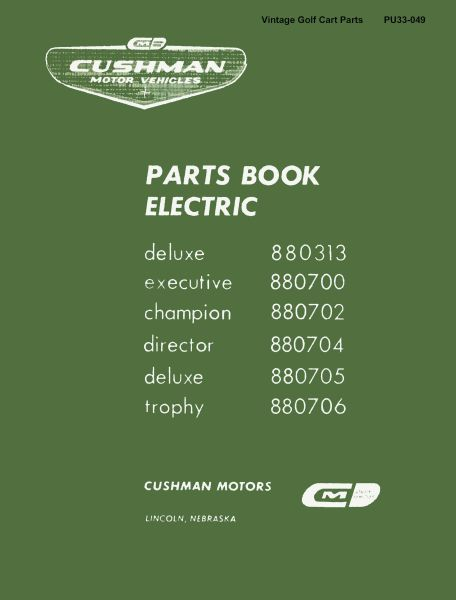 PU33-049 - Parts Manual, Electric, '65-'67